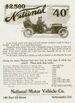 "1910 1 5 NATIONAL 1909 National Racing Car wins $2,500 National ""40"" THE HORSELESS AGE January 5, 1910"