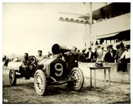 1910 9 3 NATIONAL Sept. 3, 1910 Indianapolis automobile races Howard (Howdy) Wilcox in National 9 receiving the Remy Grand Brassard & trophy after winning the 100-mile Remy Race on September 3, 1910 Photo courtesy: Indianapolis Motor Speedway C 300