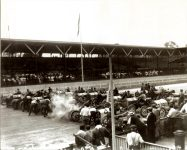 1910 7 2 NATIONAL Start of 10-mile Free-For-All Handicap Race July 2, 1910 Indianapolis automobile races Event 7 – 10-mile Race Free-for-all handicap (21 cars racing) (Only first three finishers published) Place 2 Car ? Driver WK Smith National Car No. 25? Photo courtesy: Indianapolis Motor Speedway