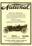 "1910 10 1911 NATIONAL National ""Keeps Up Its Winning Gait"" MOTOR AGE Oct 1910 8.25″x11″ page 83"