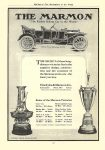 "1910 MARMON ""The Easiest Riding Car in the World"" Some of the Marmon Victories Nordyke & Marmon Co Indianapolis, Indiana McClure's – The Marketplace of the World 1910 6.25″x9″page 112"