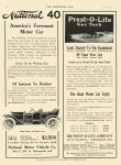 1910 11 2 NATIONAL 1911 National 40 America's Foremost Motor Car National Motor Vehicle Co. Indianapolis, IND THE HORSELESS AGE November 2, 1910 8.5″x11.75″ page 32