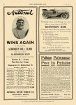 1910 9 21 NATIONAL National WINS AGAIN Algonquin Hill Climb NATIONAL MOTOR VEHICLE CO. Indianapolis, IND THE HORSELESS AGE September 21, 1910 8.5″x12″ page 46
