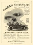 "1912 6 6 NATIONAL National Wins 500-Mile International What this Race Proves to Dealers National ""40,"" Indianapolis Indianapolis, IND MOTOR AGE June 6, 1912 8.5″x12″ page 85"