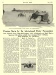 1913 5 22 STUTZ, CASE Indianapolis 500 Article Practice Starts for the International Motor Sweepstakes By C. L. Cummins MOTOR AGE May 22, 1913 University of Minnesota Library 8.5″x11.5″ page 10