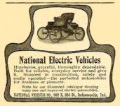 1902 ca. NATIONAL National Electric Vehicles magazine ad ca. 1902 2.5″x2″