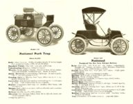 1904 NATIONAL ELECTRIC VEHICLES Sales catalog Open: 9″x7″ pages 7 & 8