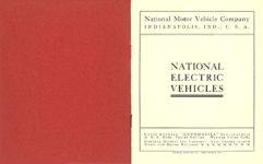 1903 NATIONAL Electric NATIONAL ELECTRIC VEHICLES ADVANCE CATALOG 1903 National Motor Vehicle Company Indianapolis, IND USA 5″x6.25″ folded page 1