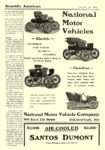 1904 1 30 NATIONAL Electric National Motor Vehicles Electric Gasoline National Motor Vehicle Company Indianapolis, IND Scientific American January 30, 1904 6.25″x9.25″