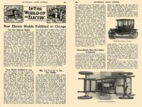 1913 3 OHIO Electric IN THE WORLD OF The ELECTRIC New Electric Models Exhibited at Chicago The Ohio Electric Car Company Toledo, OHIO AUTOMOBILE TRADE JOURNAL March 1913 6.25″x9.75″ pages 371 & 372