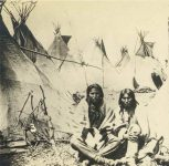 3 – Sioux Indians and their lodges Photographs of Early St. Paul From Edward A Bromley's Collection Published ca. 1910 5'5″x3.5″ Postcard