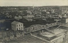30 – 1857 – Fifth, Sixth and Seventh Streets; jail in foreground Photographs of Early St. Paul From Edward A Bromley's Collection Published ca. 1910 5'5″x3.5″ Postcard