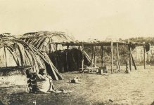 4 – Ojibways and birch bark wigwams Photographs of Early St. Paul From Edward A Bromley's Collection Published ca. 1910 5'5″x3.5″ Postcard