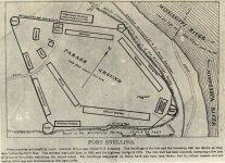 44 – Plan of original Fort Snelling Photographs of Early St. Paul From Edward A Bromley's Collection Published ca. 1910 5'5″x3.5″ Postcard