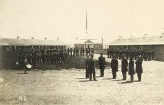 46 – 1864 – Parade ground, Ft. Snelling Photographs of Early St. Paul From Edward A Bromley's Collection Published ca. 1910 5'5″x3.5″ Postcard