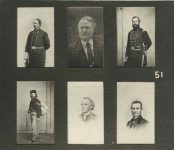 51 – Gen. Sibley, Louis Robert, Col. Wm. Crooks, Norn McLeod, Vital Guerin, Cyrus Aldrich Photographs of Early St. Paul From Edward A Bromley's Collection Published ca. 1910 5'5″x3.5″ Postcard
