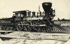 54 – First locomotive in Minnesota, 1861 Photographs of Early St. Paul From Edward A Bromley's Collection Published ca. 1910 5'5″x3.5″ Postcard