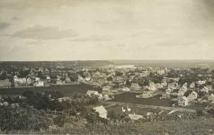 66 – Birdseye view of St. Paul, 1871 Photographs of Early St. Paul From Edward A Bromley's Collection Published ca. 1910 5'5″x3.5″ Postcard