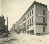 68 – Third Street from Sibley to Jackson, 1872 Photographs of Early St. Paul From Edward A Bromley's Collection Published ca. 1910 5'5″x3.5″ Postcard