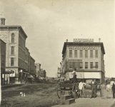 71 – Ingersoll Block and vicinity, 1870 Photographs of Early St. Paul From Edward A Bromley's Collection Published ca. 1910 5'5″x3.5″ Postcard