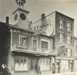 81 – The Tower Clock Maker's Place, Jackson Street near Fifth, 1866 Photographs of Early St. Paul From Edward A Bromley's Collection Published ca. 1910 5'5″x3.5″ Postcard