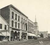 83 – Third Street from Market to Bridge Square, 1869 Photographs of Early St. Paul From Edward A Bromley's Collection Published ca. 1910 5'5″x3.5″ Postcard