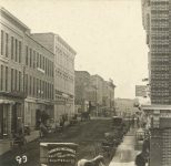 89 – Third Street from Minnesota to Bridge Square, 1873 Photographs of Early St. Paul From Edward A Bromley's Collection Published ca. 1910 5'5″x3.5″ Postcard