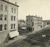 90 – Corner Seventh and Jackson Streets, 1871 Photographs of Early St. Paul From Edward A Bromley's Collection Published ca. 1910 5'5″x3.5″ Postcard