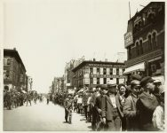 Newsboys Parade, 1900 On Washington AVE South and Nicollet AVE Minneapolis, Minnesota Collected & Compiled by Edward A. Bromley 10″x8″ black & white photograph