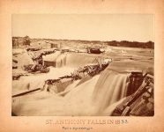 1853 Bromley photograph ST. ANTHONY FALLS IN 1853 From a daguerreotype 8.25″x6″