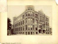 909 MINNEAPOLIS PUBLIC LIBRARY, 1889 10th Street & Hennepin Avenue Minneapolis, Minnesota (Demolished 1961) Long & Kees, Architects ca. May 1893 9.25″x6.25