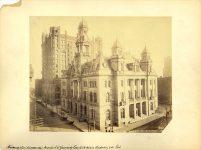 POST OFFICE – GUARANTY LOAN BUILDINGS 5160 308 2nd AVE South Minneapolis, Minnesota Post Office, 1889 (Demolished 1960) Guaranty Loan Building, 1890 (Demolished 1962) ca. May 1893 8.5″x7