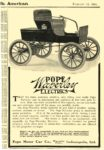 1904 2 13 POPE-Waverley Electric POPE Waverley ELECTRICS Pope Motor Car Co., Waverley Dept. Indianapolis, IND Scientific American February 13, 1904 5.5″x8″