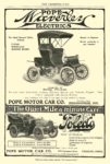 1904 POPE WAVERLEY Electric Model No. 27 Stanhope, Price $1,400 Pope Motor Car Co Waverley Dept Indianapolis, IND THE COSMOPOLITAN 6.25″x9.25″