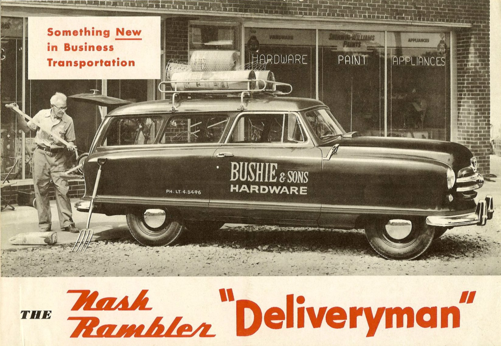 "The Nash Rambler ""Deliveryman"" Front Cover Folded: 11″x7.5″ Open: 22″x7.5″ NSP51-784—200M-9-51"