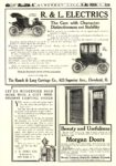1908 11 RAUCH & LANG Electric The Cars with Character The Rauch & Lang Carriage Co. Cleveland, OHIO SUBURBAN LIFE November 1907 9.75″x13.75″ page 317