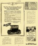 1911 11 9 RAUCH & LANG Electric Are Now on Exhibition in All The Rauch & Lang Carriage Co. Cleveland, OHIO LIFE November 9, 1911 8.75″x11″ page 836