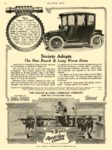1913 11 13 RAUCH & LANG Electric Society Adopts New R & L Worm Drive The Rauch & Lang Carriage Co. Cleveland, OHIO MOTOR AGE November 13, 1913 8.5″x11.5″ page 62