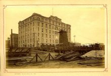 """4. Pillsbury """"A"""" Mill Largest flour mill in the world. Souvenir of Minnesota Minneapolis, Series No. 1 Published by The St. Paul Book & Stationery Co St. Paul, MINN 1886"""