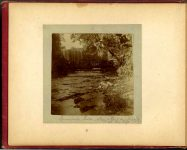Minnehaha Falls May & Earl on bridge at the left 1897 Minneapolis & St. Paul, Minnesota PHOTOGRAPHS To: Mrs. N.F. Parsons from M.I. Came, St. Paul, Minn (524 Cedar?) October 21st 1897 Snapshot: 3.5″x3.5″ Album: 7″x5.5″