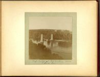 High bridge at Fort Snelling across Miss. River – 1897 Minneapolis & St. Paul, Minnesota PHOTOGRAPHS To: Mrs. N.F. Parsons from M.I. Came, St. Paul, Minn (524 Cedar?) October 21st 1897 Snapshot: 3.5″x3.5″ Album: 7″x5.5″