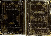 ALBUM of the ROUNDS Between Minneapolis and St. Paul Published by M. Nowack Front and Back Covers ca. 1880