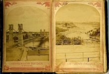 ALBUM of the ROUNDS Page 1: SUSPENSION BRIDGE At Minneapolis Page 2: ST. ANTHONY FALLS