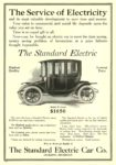 1912 1 6 STANDARD Electric Car The Service of Electricity The Standard Electric Car Co. Jackson, MICH COLLIER'S January 6, 1912 10.25″x14.75″ page 28