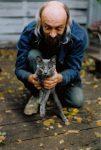 Dave and Steve Kitty Backyard Photo: October 8, 1995