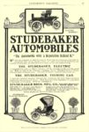 "1904 STUDEBAKER Electric Runabout ""The Automobile with a Reputation Behind It"" Studebaker Bros MFG CO Automobile Department South Bend, IND EVERYBODY'S MAGAZINE 6.5″x9.5″ page 57"