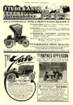 "1906 STUDEBAKER Electric ""THE AUTOMOBILE WITH A REPUTATION"" Studebaker Automobile Company South Bend, IND HARPER'S MAGAZINE ADVERTISER 1906 6.5″x9.5″"