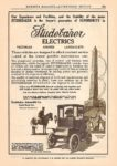 1911 Studebaker ELECTRICS MUNSEY'S MAGAZINE ADVERTISING SECTION 6.75″z9.75″ page 56e