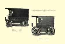 1903 The Vehicle Equipment Co. ELECTRIC VEHICLES HIGH GRADE ELECTRIC AUTOMOBILES PLEASURE VEHICLES COMMERCIAL VEHICLES VEHICLE EQUIPMENT COMPANY The RAINIER COMPANY, General Sales Agents New York, New York 11″x7.25″ page 17