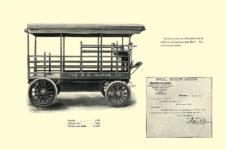 1903 The Vehicle Equipment Co. ELECTRIC VEHICLES HIGH GRADE ELECTRIC AUTOMOBILES PLEASURE VEHICLES COMMERCIAL VEHICLES VEHICLE EQUIPMENT COMPANY The RAINIER COMPANY, General Sales Agents New York, New York 11″x7.25″ page 18